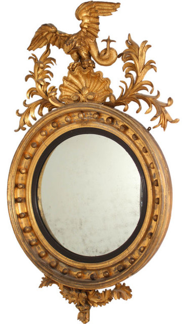 Amazing Large Convex Mirror with Dragon eclectic-wall-mirrors