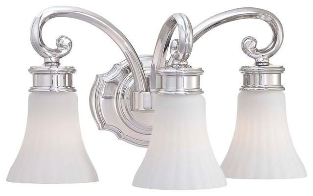 "Metropolitan Bath Collection Fluted 16 1/2"" Wide Bath Light traditional-bathroom-vanity-lighting"