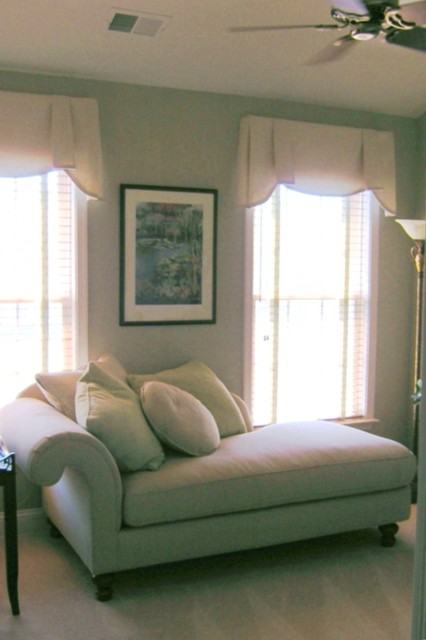 Window Valances & Custom Daybed with pillows modern-day-beds-and-chaises
