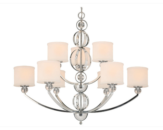 Cerchi 9 Light Chandelier contemporary-chandeliers