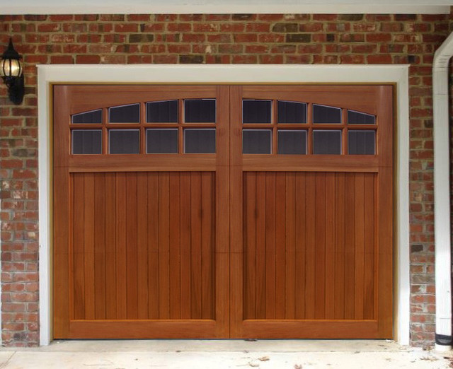 Sunburst Garage Door traditional-garage-doors