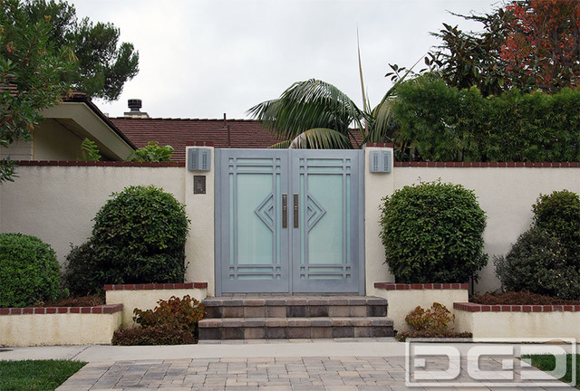 Garage door accents - Los Angeles Custom Designed Modern Entry Courtyard Gates