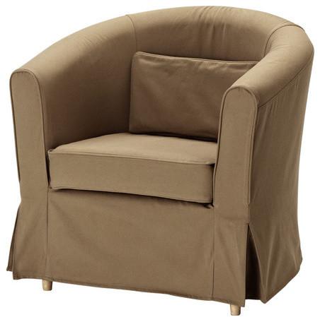 Ektorp tullsta chair cover modern armchairs and accent for Modern armchair covers
