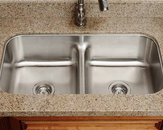 Mr Direct 512 Low Divide Double Bowl Stainless Steel Sink