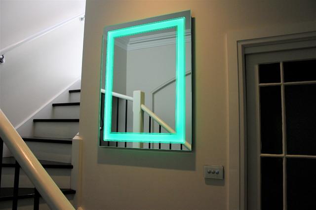 Art deco light mirror led colour changing modern