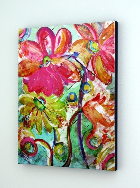Summer Breeze ~ Colorful Giclee on Canvas contemporary-artwork