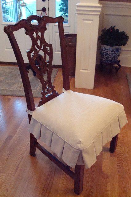 Dining Chair Slipcovers - Traditional - nashville - by ...