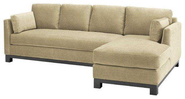 Avalon 2PC Sectional Sofa Buckwheat Chaise on Right modern sectional sofas