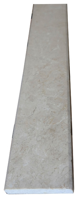 Marble Floor Saddle : Crema marfil marble saddle threshold quot x traditional