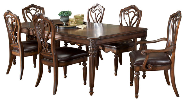 american drew barrington house 7 piece dining room set in
