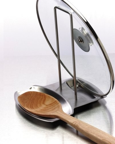 Progressive International Stainless Steel Lid And Spoon Rest contemporary-specialty-tools