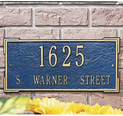 Standard Roanoke Plaque traditional-house-numbers