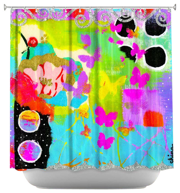 Shower Curtain Artistic - Fun With Glitter contemporary-shower-curtains