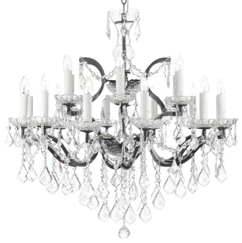 Th C Rococo Iron And Crystal Chandelier Lighting Traditional Chandeliers By Gallery