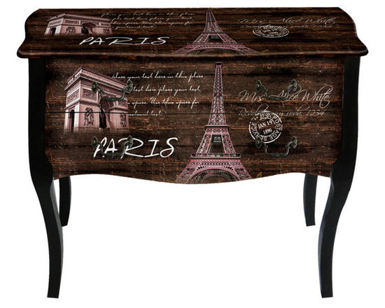 Leather cabinet - Decorative Wooden Drawers Chest