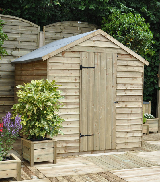 8x6 Apex Shed Rustic Sheds west midlands by Forest