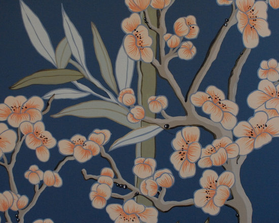 DeGournay Style wallpaper panels custom painted -