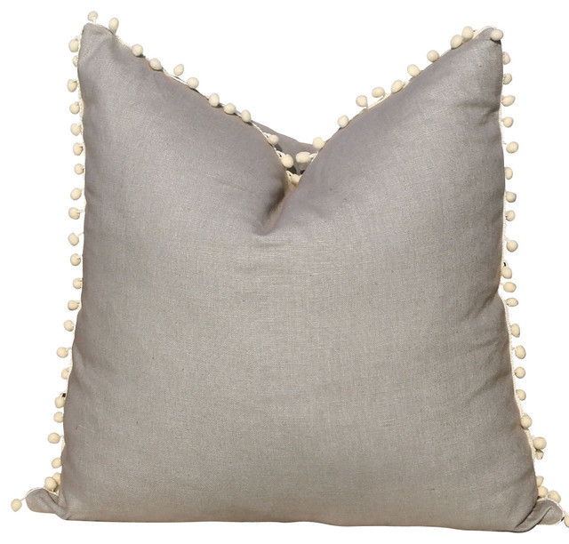 Decorative Pillows With Grey : Gray Linen Pillow Cover, 20