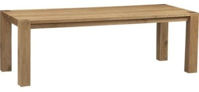 Big Sur Natural 90 5 Dining Table Contemporary Dining Tables By C