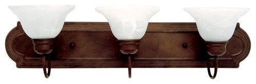 Dark Brown Three-Light Vanity Light contemporary-bathroom-lighting-and-vanity-lighting