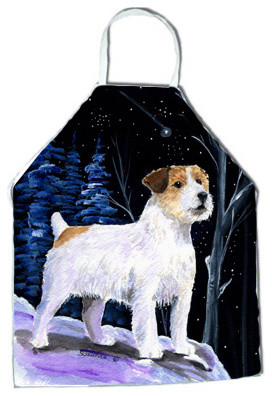 Starry Night Jack Russell Terrier Apron traditional-aprons