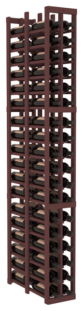 2 Column Double Deep Cellar in Pine, Walnut contemporary-wine-racks