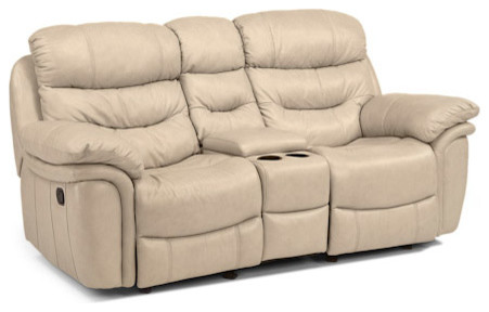 Leather Rocking Reclining Loveseat