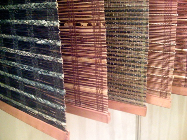 Hand woven natural window blinds asian windows other for Asian window coverings