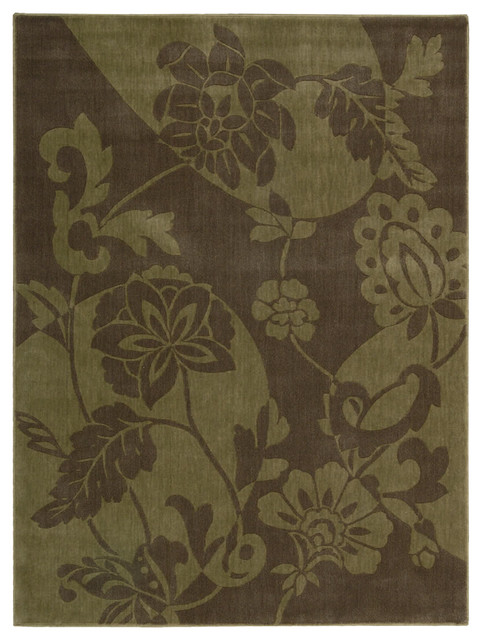 """Somerset ST67 5'6"""" x 7'5"""" Brown Rug contemporary-rugs"""
