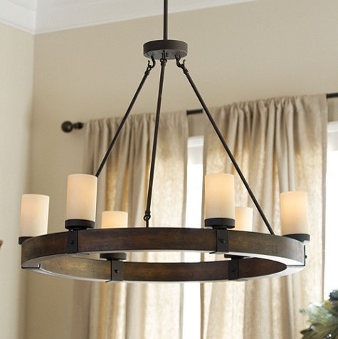 Arturo 6 light round chandelier rustic chandeliers for Round rustic chandeliers