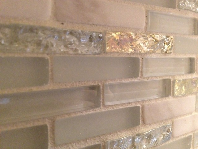 Glass & Marble Backsplash - modern - tile - boston - by Fowler