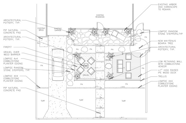 Beach Contemporary Front Yard site-and-landscape-plan