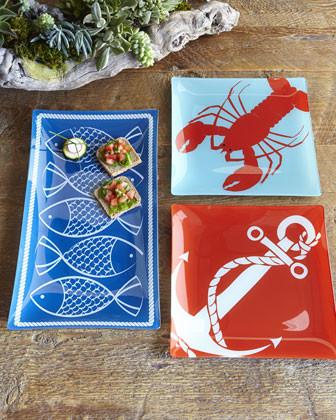 Nautical Plates contemporary-serveware