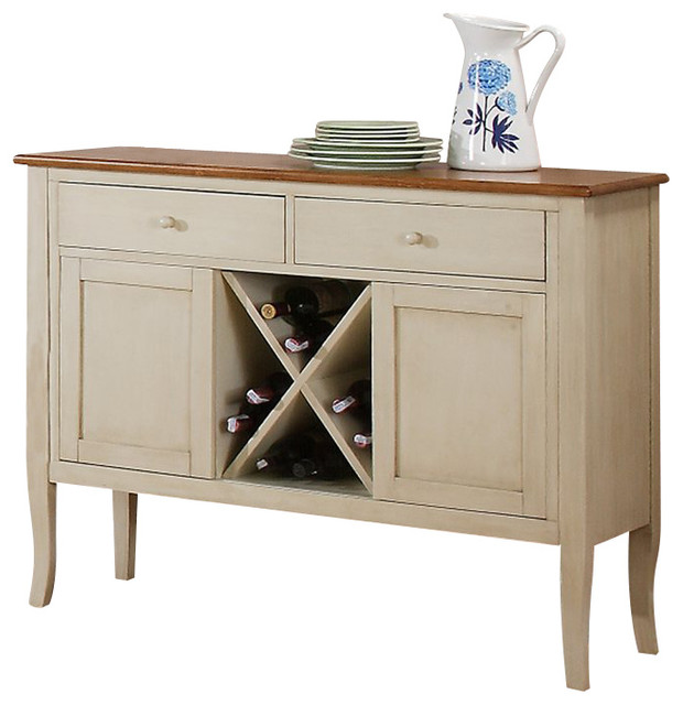 Steve Silver Company Candice Server in Oak and Off-White - Transitional - Buffets And Sideboards ...