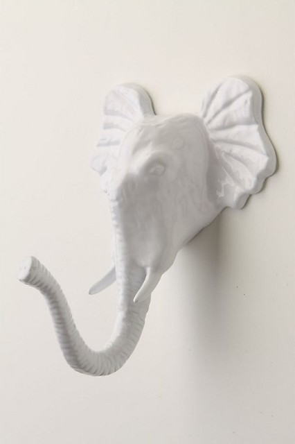 Encased Elephant Hook eclectic-wall-hooks