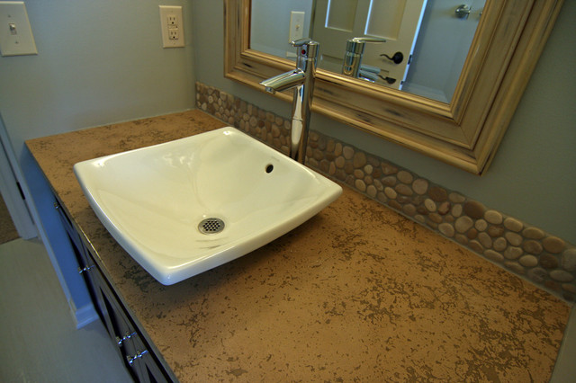 Concrete Bath Sinks Modern Vanity Tops And Side Splashes Minneapolis By Concrete Arts