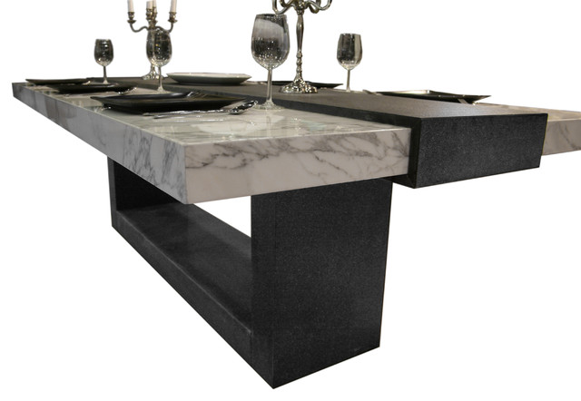 Stone Table Contemporary Dining Tables Other Metro By Ogle