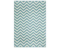 Indoor/Outdoor Blue Chevron Rug (1'8 x 3'7) contemporary-doormats