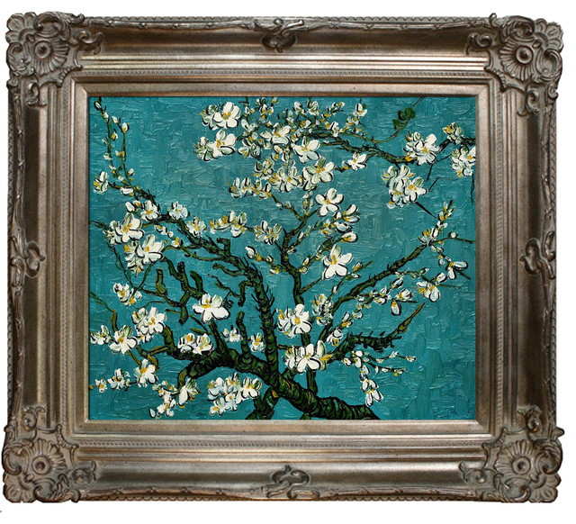 Branches of an Almond Tree in Blossom - Vincent Van Gogh Oil Painting modern-prints-and-posters