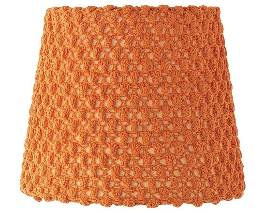 Bubble Knit Lamp Shade, Papaya -