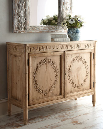 Patridge Marble-Top Cabinet traditional buffets and sideboards