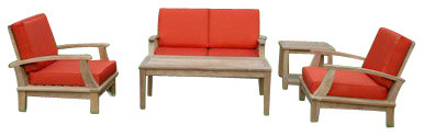 Brianna Deep Seating Loveseat 5-Pc Set By Anderson Teak contemporary-furniture