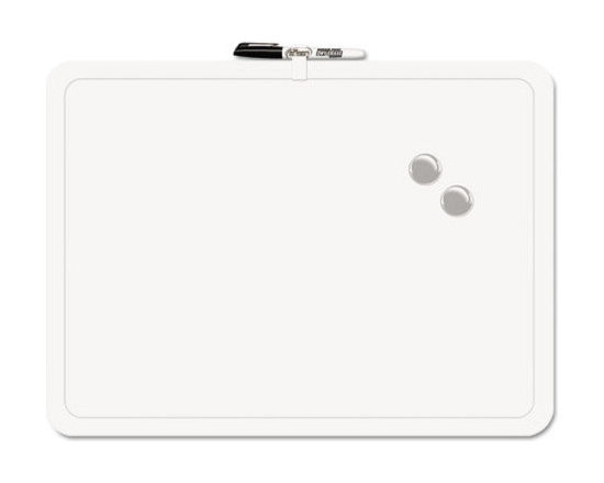 "The Board Dudes - The Board Dudes Magnetic Dry Erase Board, 23""x17"", Melamine - This dry-erase board encased in a plastic frame provides a large, easy-to-use and maintain writing surface. It is perfect for drawing, writing and more."