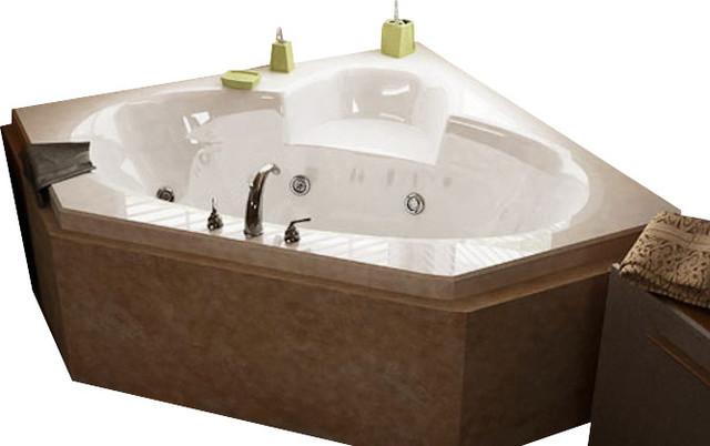 Atlantis Tubs 6060SWR Sublime 60x60x23 Inch Corner Whirlpool Jetted Bathtub traditional-bathtubs