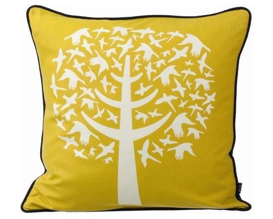 Ferm Living Bird Leaves Pillow - http://www.houseandhold.com/ferm-living-bird-leaves-pillow.html