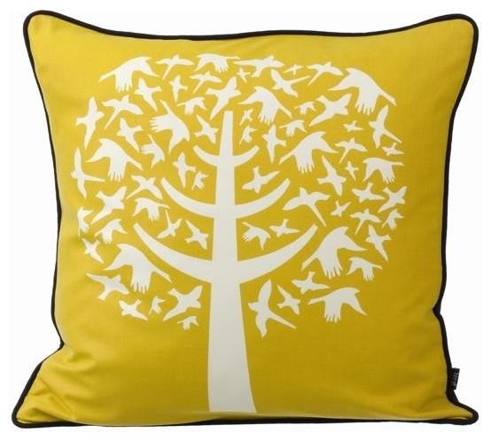 Ferm Living Bird Leaves Pillow modern-decorative-pillows