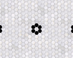 Parramore 3cm Hexagon with Flower Mosaic traditional-tile