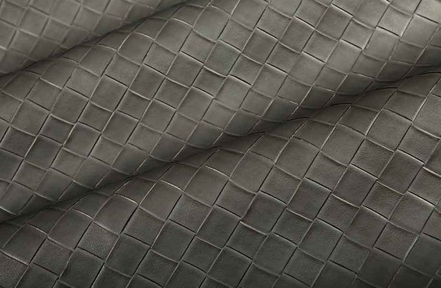 Basketweave Vinyl In Charcoal Grey Traditional