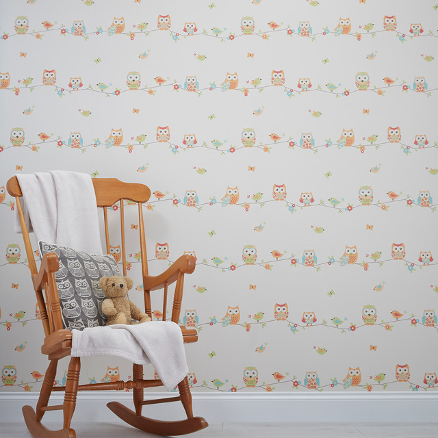 Owl Themed Kids Wallpaper Contemporary Kids Decor