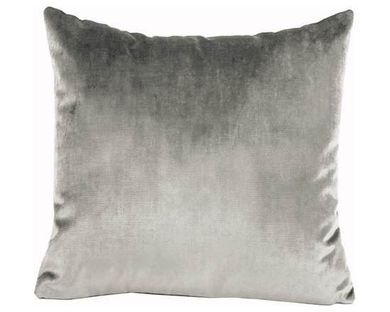 Yves Delorme - Iosis Berlingot Decorative Pillow, Argent, 13x22 - These sumptuous velvet pillows by Yves Delorme add gorgeous color and texture to any space. Decorative pillows feature a velvet front with a linen back and are filled with a feather down insert. Available in several colors and three different sizes. Made in France.Usually ships in 5-7 business days.